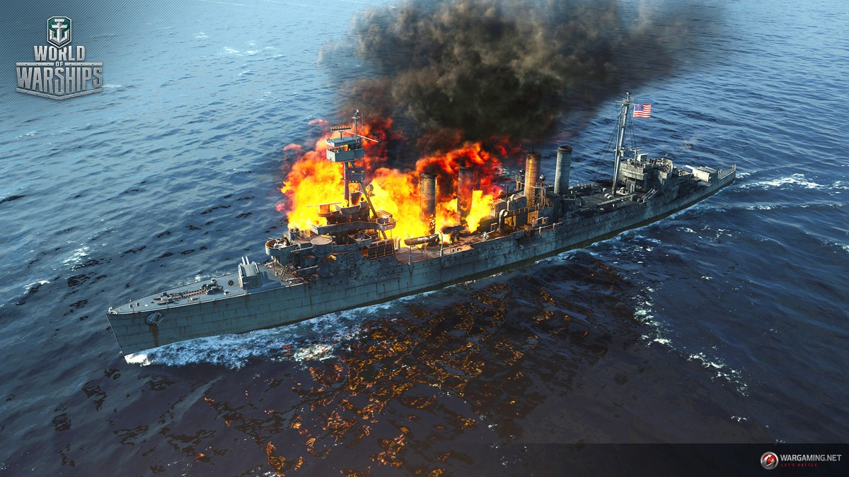 Image result for world of warships fires